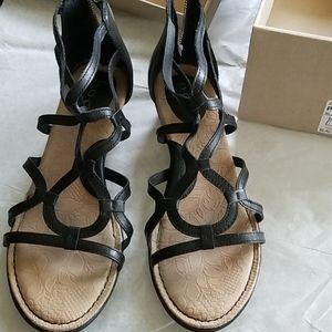 B.O.C born concept.  Sandals size8 black wedge